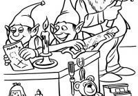 Santa S Elves Coloring Pages With And Christmas For Kids4a74 Printable