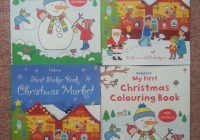 Santa S Grotto Colouring With A Book Simple Festive Scenes And Stickers To Decorate