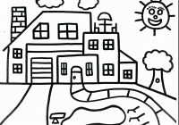 Santa S House Coloring Pages With School