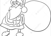 Santa Sack Coloring With Holidays Claus Book Stock Illustration I5220001 At