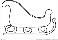 Santa Sled Coloring Page With And His Sleigh Pages Free Printable Christmas