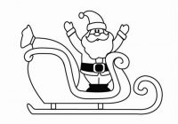 Santa Sled Coloring Page With Claus On His Sleigh Pages 5f88397b0c50 Agandfoodlaw