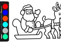Santa Sleigh Coloring Page With Claus Pages For Kids Drawings
