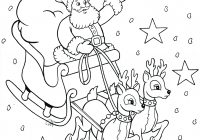Santa Sleigh Coloring Page With Free Printable Pages Chronicles Network