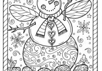 Snow Angel Instant download Christmas Coloring page Holidays Adult ..