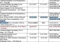 Ssc Year Calendar 2019 With SSC 2018 Exam Date YouTube