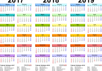Tamil Year Calendar 2019 With 2017 2018 4 Three Printable PDF Calendars