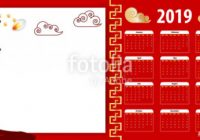 Template chinese new year calendar 15. Week year month date mockup ..