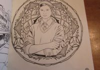 "The ""Harry Potter: Magical Places  – eddie redmayne magic coloring book"