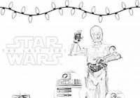 The Last Jedi Droids Holiday Coloring Page for Christmas or Hanukkah ..