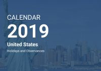 Total 2019 Calendar Year Working Days With