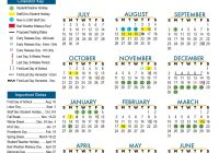 Total 2019 Calendar Year Working Days With Approved 2018 Leander Independent School District