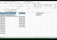 Total 2019 Calendar Year Working Days With Calculate The Number Of In Each Month Using Excel YouTube