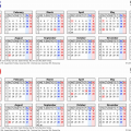 Two Year Calendar 2019 And 2020