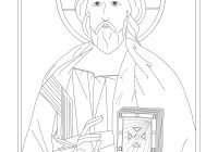Ukrainian Christmas Coloring Pages With Byzantine Icon Page Of Christ The Teacher At SS Joachim And