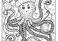 Ukrainian Christmas Coloring Pages With Octopus Page Adult Color Holidays Beach Etsy