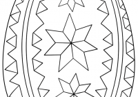 Ukrainian Christmas Coloring Pages With Ornate Easter Egg Page Free Printable