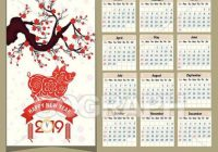 Vector Clipart – Calendar 16 chinese calendar for happy new year ..