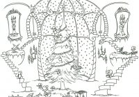 Victorian Christmas Coloring Pages Printable With
