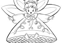 Victorian Christmas Coloring Pages Printable With Free Retro Angels The Graphics Fairy