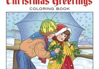 Vintage Christmas Coloring Books With Creative Haven Greetings Book