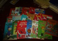 Vintage Christmas Coloring Books With LOT OF 18 Santa Reindeer Many