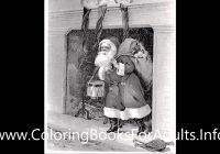Vintage Christmas Coloring Books With Postcard Adult Book Vol 3 25 Grayscale