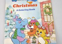 Vintage Christmas Coloring Books With Wuzzles Book Hasbro Only Pages On
