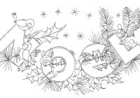 Vintage Christmas Coloring Pages With