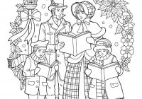 Vintage Christmas Coloring Pages With Caroler Page Pinterest Adult
