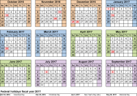 Walmart Fiscal Year 2019 Calendar With Calendars 2017 As Free Printable Excel Templates