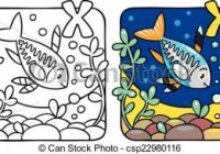 X-ray fish coloring book. alphabet x. Coloring picture or coloring ..