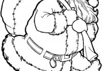 Xmas Coloring Pages To Print With Christmas Tree And Santa Printable For