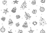 Xmas Ornaments Coloring Pages With Christmas For Adults Modern Home Design