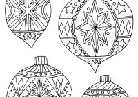 Xmas Ornaments Coloring Pages With Christmas Ornament Page Cut Out Decorations