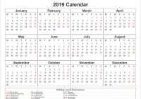 Year 2019 Calendar Canada With Printable May