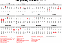 Year 2019 Calendar Hong Kong With Hongkong Editable Newspictures Xyz
