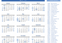 Year 2019 Calendar Ireland With 2018 Templates Images And PDFs