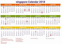 Year 2019 Calendar Singapore With Mar Format Example