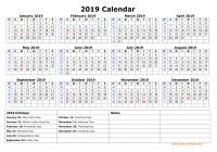 Year 2019 Holidays Calendar With Free Download Printable US Federal One