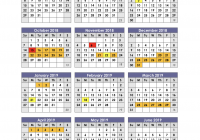 Year Calendar 2018 To 2019 With School Calendars