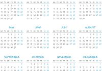 Year Calendar 2019 With Simple Royalty Free Vector Image