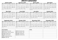 Year Calendar 2019 With Yearly Free Download And Print