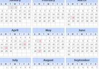 Yearly 15 Calendar with UK [United Kingdom] Holidays Template ..