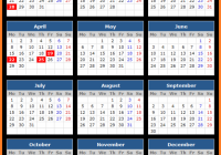 Yearly Calendar 14 Template with Australia Holidays Free | Public ..