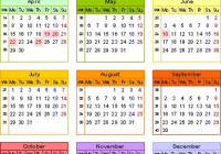 Yearly Calendar 14 Template With QLD Holidays Free Public 14 Qld ..
