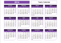 Yearly Calendar Template for 16 and Beyond – 2019 Full Year Calendar Template Excel