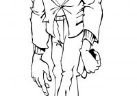 Zombie Santa Coloring Page With Frankenstein Pages Pinterest