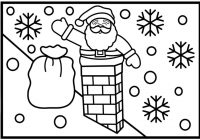 Zombie Santa Coloring Page With How To Draw Going Down The Chimney Pages For